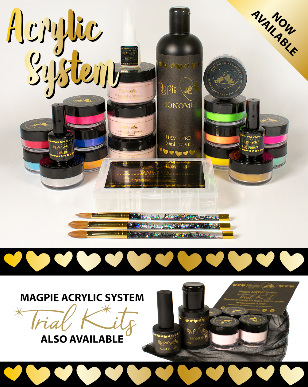 Acrylic system complete set, 20% off pre order online now