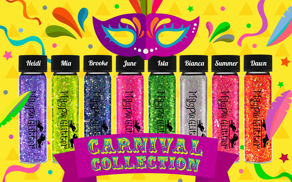 Carnival Glitter Collection - Available to purchase online Monday Evening 20th May