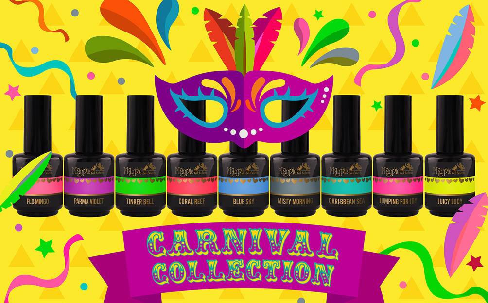 Carnival Gel Collection - Available to purchase online Monday Evening 20th May
