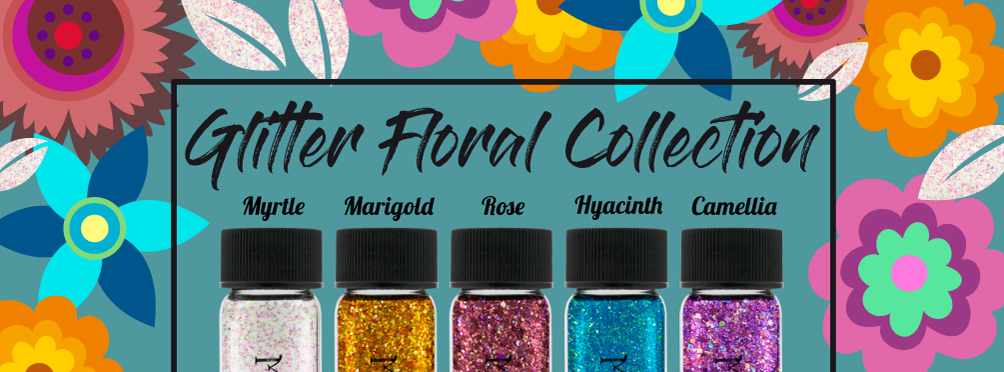 Glitter Floral Collection