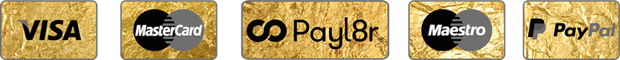 We Accept Visa, Mastercard, Maestro, Payl8r and PayPal
